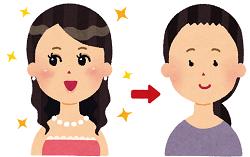 化粧と女性